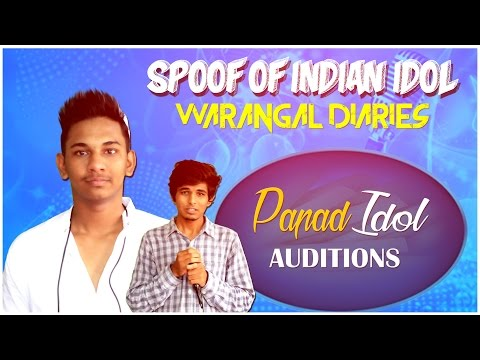 Papad Idol Auditions Short Comedy Skit || Warangal Diaries || Spoof Of Indian Idol