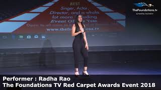 Radha Rao performing at The Foundations TV Red Carpet Event