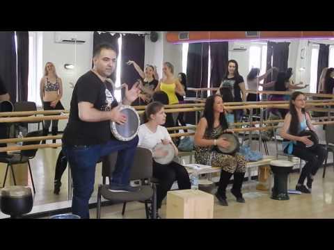Оссама Шахин. Мастер-класс по игре на табла дарбука в Челябинске (видео 2)