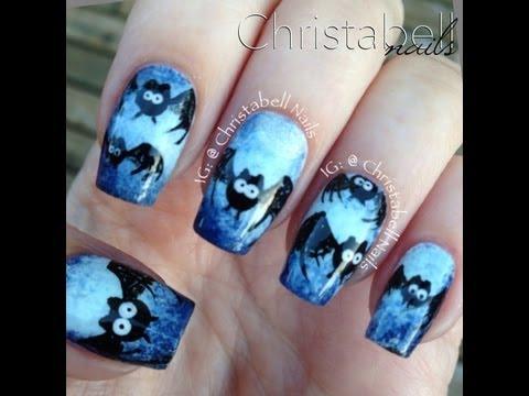 nail art - pipistrello per halloween