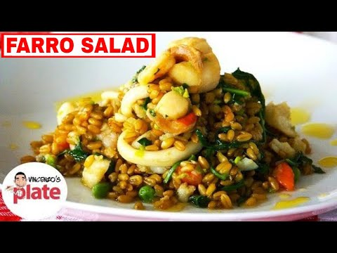 Healthy Farro with Seafood – How to Cook Farro – Healthy Italian Recipe