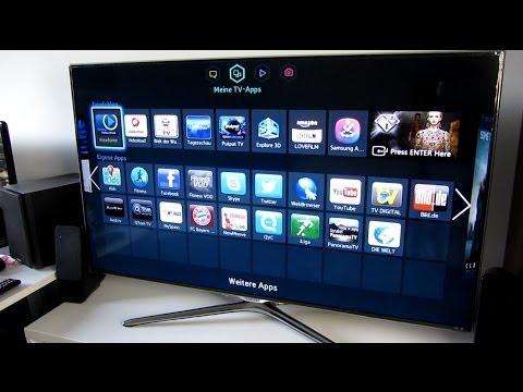 Samsung ue46f6500 smart tv unboxing installation deutsch hd