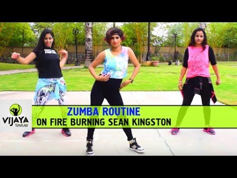 Zumba Routine on Fire Burning Sean Kingston | Zumba Dance Fitness | Choreographed by Vijaya Tupurani