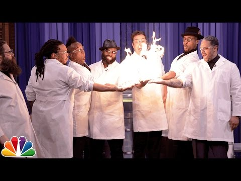 Science Expert Kevin Delaney Lights Jimmy Fallon and The Roots Hands on