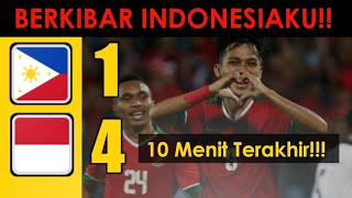 Video WOW!! 10 menit terakhir 4 gol - INDONESIA vs FILIPINA | Piala AFF U19 2018 MP3, 3GP, MP4, WEBM, AVI, FLV September 2018