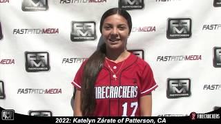 2022 Katelyn Zárate Outfield Softball Skills Video - Firecrackers