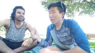 Korean guy sings