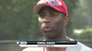 NFA head coach Jemal Davis