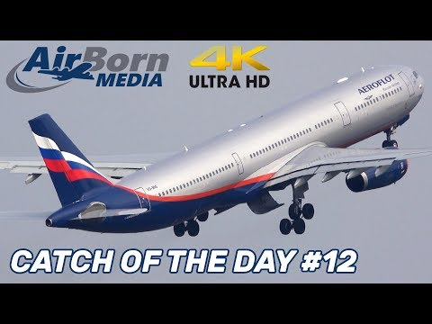 Catch Of The Day #12 Manchester Airport Spotting Inc Aeroflot A330 Man Utd Team To Barcelona