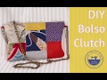 DIY bolso clutch fácil con retales