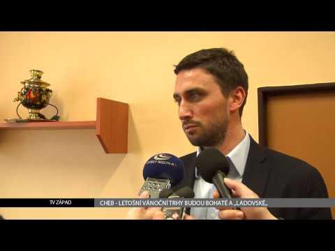 Chebské vánoční trhy 2013 budou bohaté - reportáž TV Západ