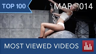 A countdown of YouTube's 100 most viewed videos of all time as of March 1, 2014. ▪ Updated version ► http://youtu.be/351S5ewsLqI ▪ 86 official music videos (...