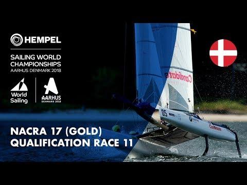 Full Nacra 17 Gold Fleet Qualification Race 11 | Aarhus 2018_A héten feltöltött legjobb vitorlázás videók