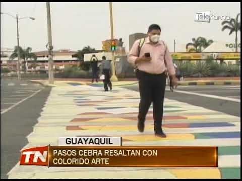 Pasos cebra resaltan con colorido arte