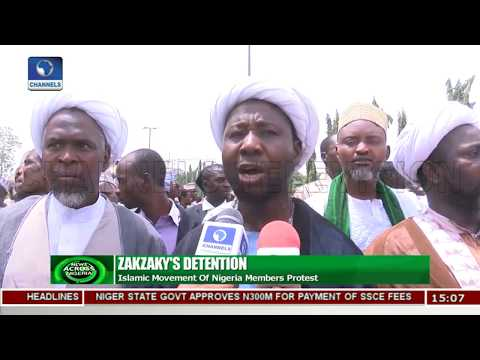 Islmaic Movement Of Nigeria Members Protest Zakzaky's Detention