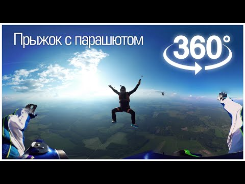 SkyDive in 360° Virtual Reality via GoPro / Прыжок с парашютом в 360° градусов (видео)