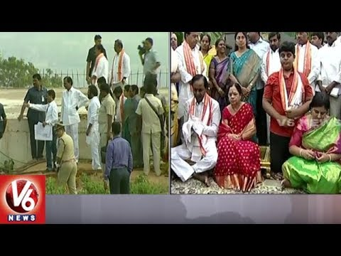 CM KCR Visits Yadadri Temple And Offers Special Prayers To Lakshmi Narasimha Swamy