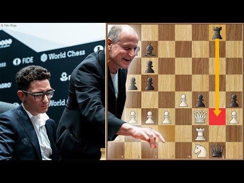 The Harrelson Blunder | Caruana vs Carlsen 2018. | Game 1