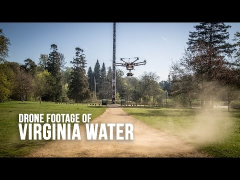 Virginia Water and Valley Gardens in Windsor Great Park - Filmed by Drone