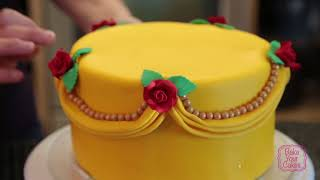 BYC - Beauty and the Beast Cake Covering and Decorating