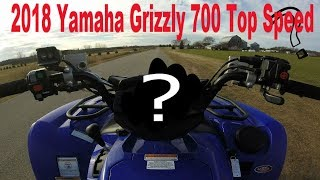 7. 2018 Yamaha Grizzly 700 EPS Top Speed Run! (MPH)