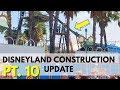 Disneyland Construction update - New Steel at Incredicoaster!   04/07/18 pt 10