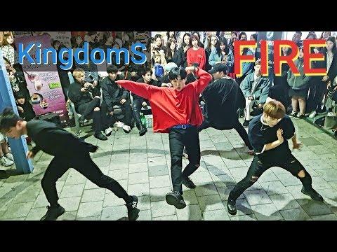 《BTS_#Fire》20190513#KingdomS(킹덤즈) 홍대버스킹 20190513_213311 #SnowHorse