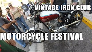8. Vintage Iron Club Motorcycle Festival  on a Suzuki TU250X
