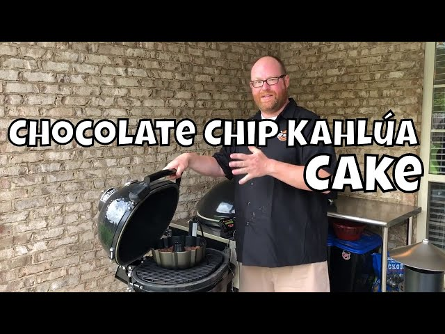 Chocolate Chip Kahlúa Cake | Smoked Dessert on the Primo Jr. 200