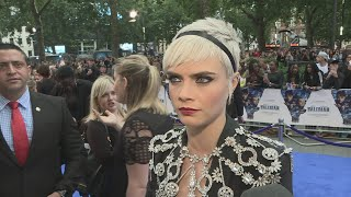 Cara Delevingne takes on another major acting role in Valerian and The City of a Thousand Planets and says she never thought she'd be a model! Report by Lucy Jones.
