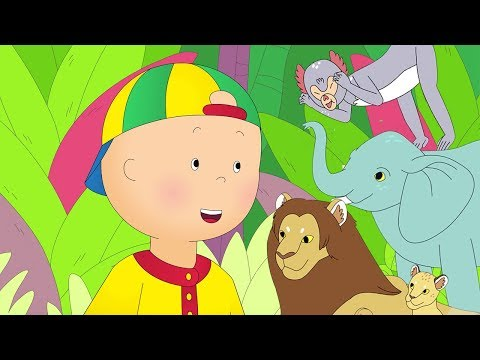★NEW★ 🦁 Caillou goes to the Zoo 🐒 Funny Animated Caillou   Cartoons for kids