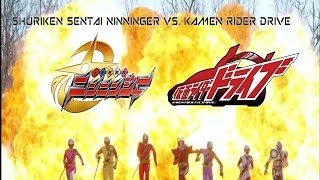 Shuriken Sentai Ninninger   Kamen Rider Drive   Spring Vacation Combining Special Review