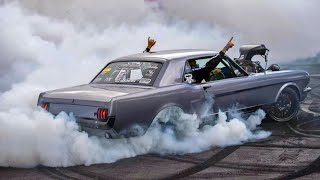 This car was built JUST for BURNOUTS - 1000hp Blown Mustang! by 1320Video