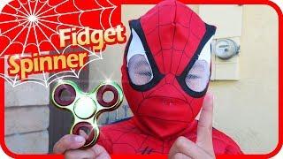 HOLY GRAIL of Fidget Spinner Toys Battle Spiderman vs Superman, TigerBox HD