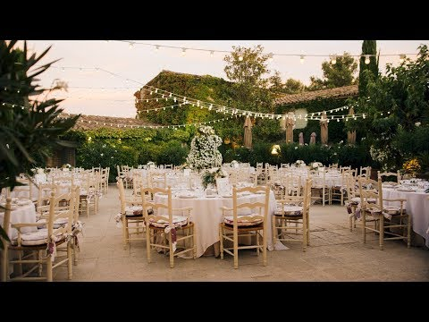 Beautifully Romantic Outdoor French Countryside Garden Rose Wedding Video