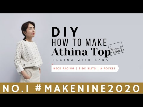 #MakeNine2020 No.1 - DIY How to make Athina Linen Top (Free Pattern)   Sewing Therapy