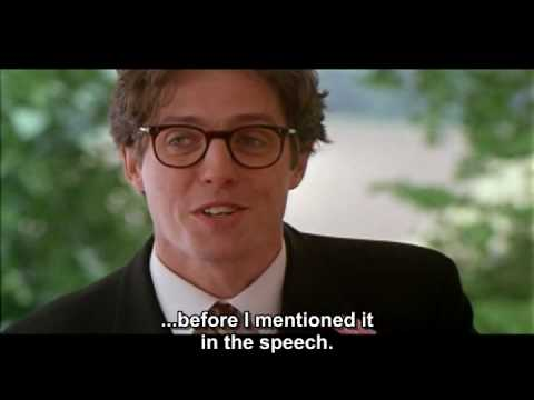 Best man Speech - Four Weddings and a Funeral