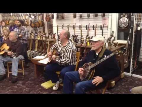 """Roll in My Sweet Baby's Arms"" Elderly Instruments Bluegrass Jam 01-15-15"