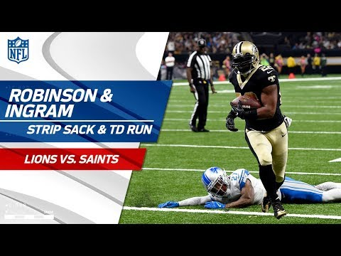 Video: Robinson Rips the Ball from Stafford Setting Up Ingram's TD Run! | Lions vs. Saints | NFL Wk 6
