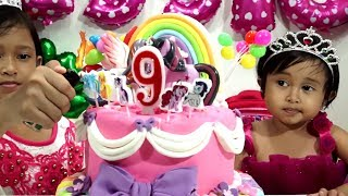 Potong Kue Ulang Tahun 💖 Brithday Rainbow Cake My Little Pony 💖 Jessica 9th