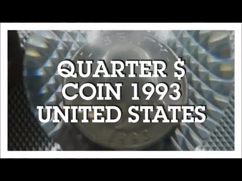 One Quarter Dollar Coin 1993, United States