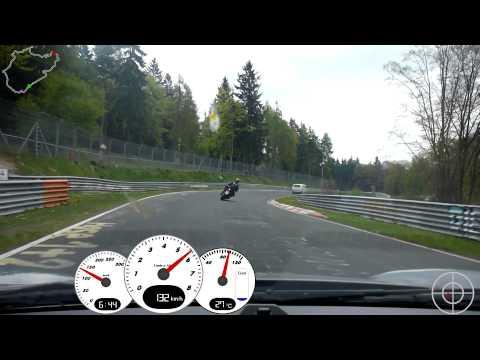 Porsche vs. Motorrad auf der Nordschleife