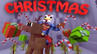 Minecraft | CHRISTMAS Mod Showcase! (SANTA VISITS, PRESENTS, AND PENGUINS)