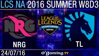 NRG Esports vs Liquid - LCS NA Summer Split 2016 - W8D3