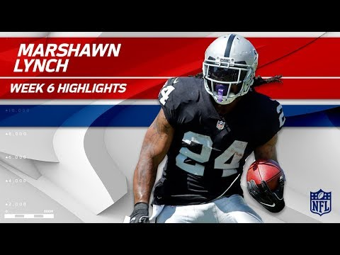 Video: Marshawn Lynch Highlights | Chargers vs. Raiders | Wk 6 Player Highlights