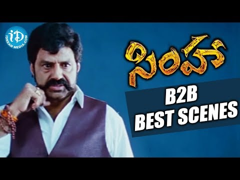 Simha Movie - Balakrishna Back To Back Best Scenes