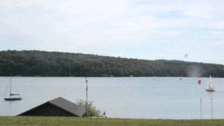 Time Lapse of Lake Walloon from the dining hall at Camp Michigania.