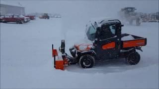 9. Kubota RTV with Snow Blower