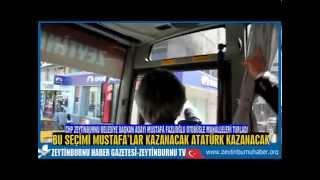 CHP Zeytinburnu Belediye Başkan Adayı Mimar Mustafa Fazlıoğlu Otbüsle Mahalleleri Selamladı