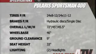 3. ATV Television Test - 2008 Polaris Sportsman 400